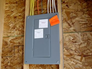 Electrical Panel in New Home under Construction